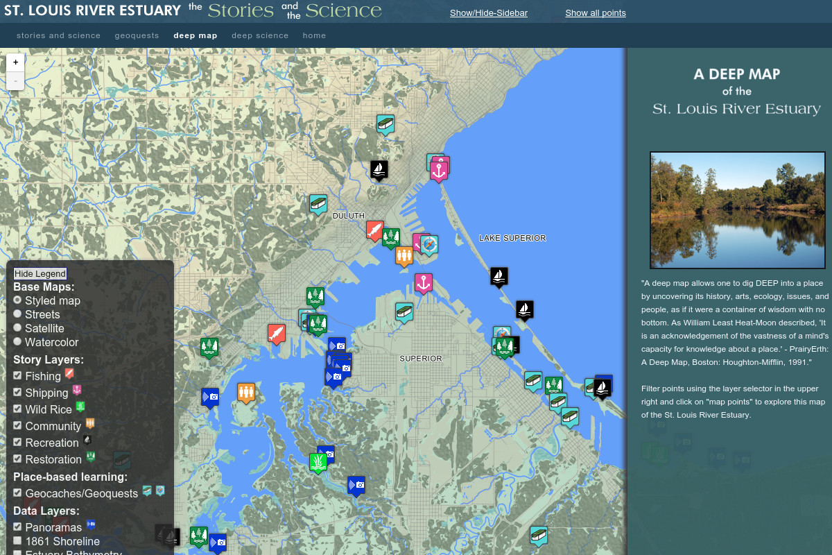 Web Mapping Applications at Wisconsin Sea Grant on